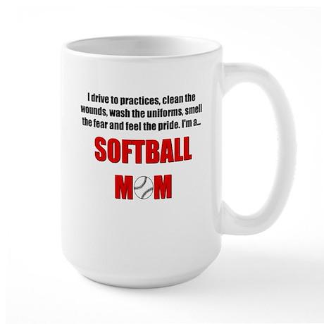 Softball Mom Large Mug