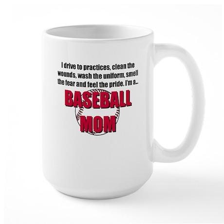 Baseball Mom Large Mug