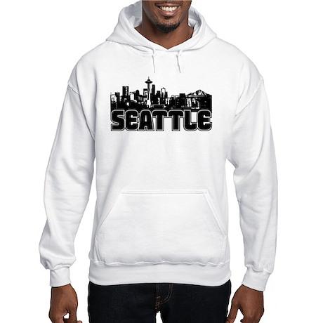 Seattle Skyline Hooded Sweatshirt