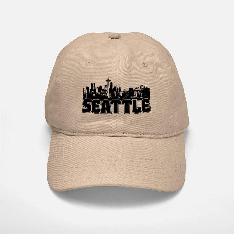Seattle Skyline Baseball Baseball Cap