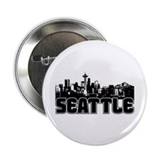 "Seattle Skyline 2.25"" Button"