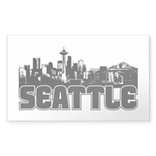 Seattle Skyline Bumper Stickers