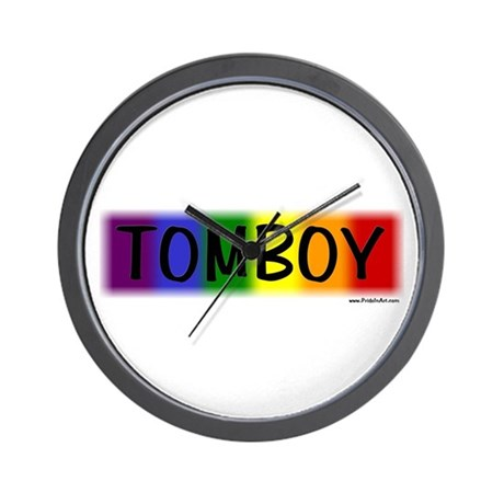Tomboy Gay Pride Wall Clock