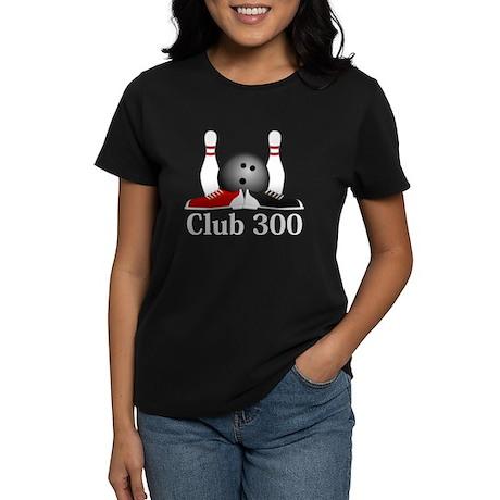 Club 300 Logo 15 Women's Dark T-Shirt Design Front