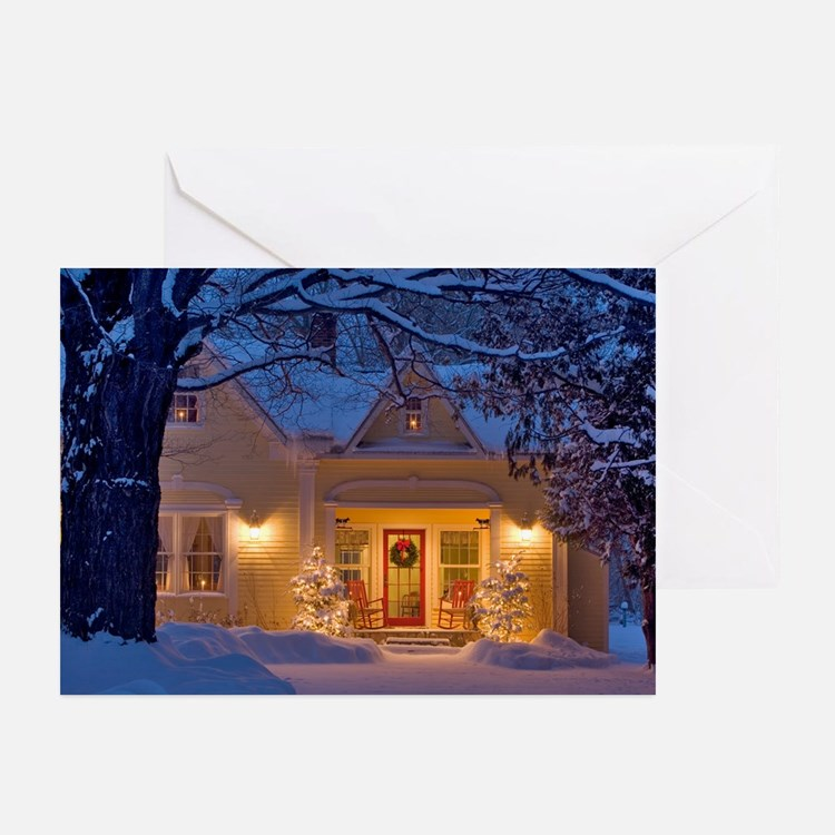 Cute New england christmas Greeting Cards (Pk of 20)