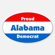 Proud Alabama Democrat Oval Decal