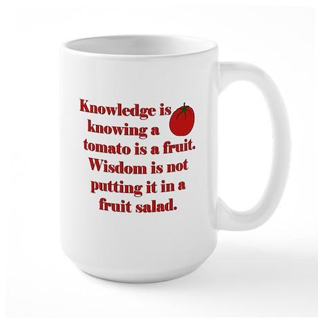 Tomato Fruit Salad Large Mug