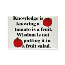 Tomato Fruit Salad Rectangle Magnet