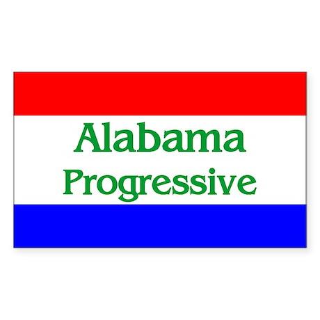Alabama Progressive Rectangle Sticker