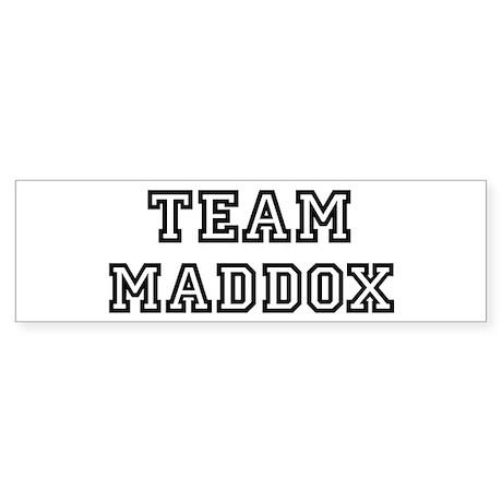 Team Maddox Bumper Sticker