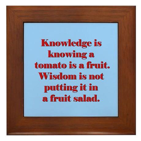 Tomato Fruit Salad Framed Tile