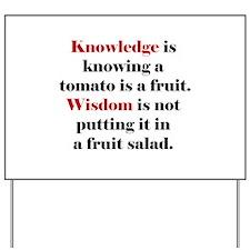 Tomato Knowledge Yard Sign