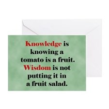 Tomato Knowledge Greeting Card