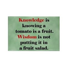 Tomato Knowledge Rectangle Magnet