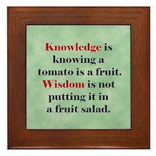 Tomato Knowledge Framed Tile