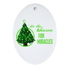 SeasonMiraclesCancer Ornament (Oval)