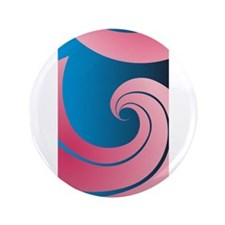 "Big Pink Wave 3.5"" Button (100 pack)"