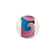Big Pink Wave Mini Button (10 pack)