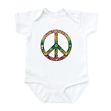 Let's Live Together in Peace Infant Bodysuit