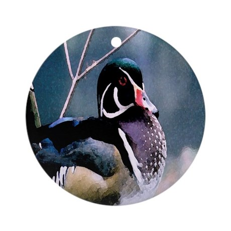 Wood Duck Ornament (Round)