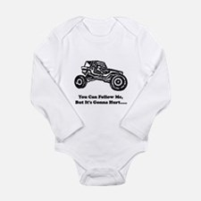 Follow Me Long Sleeve Infant Bodysuit