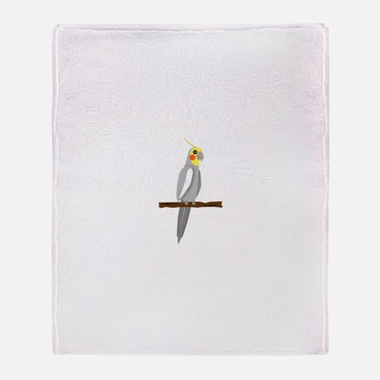 Funny Parrot Throw Blanket