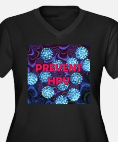 Prevent HPV Women's Plus Size V-Neck Dark T-Shirt