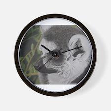 Pastel Painting of a Lemur Wall Clock
