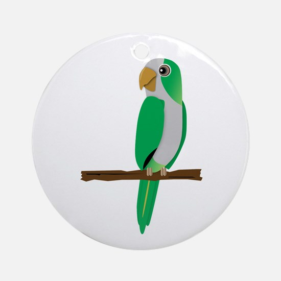 Quaker Parrot Ornament (Round)
