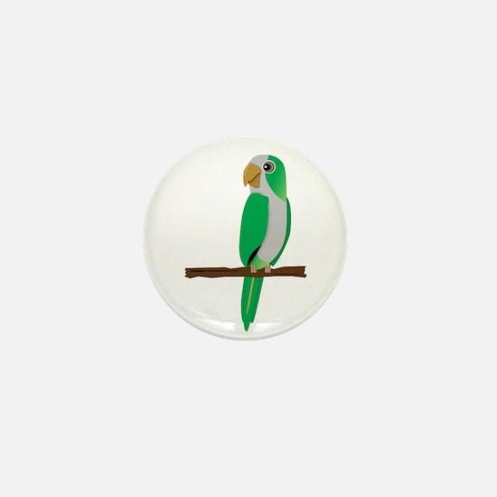 Quaker Parrot Mini Button