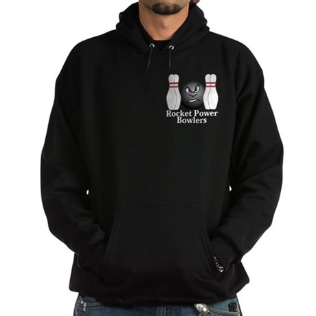 Rocket Power Bowlers Logo 3 Hoodie (dark) Design F