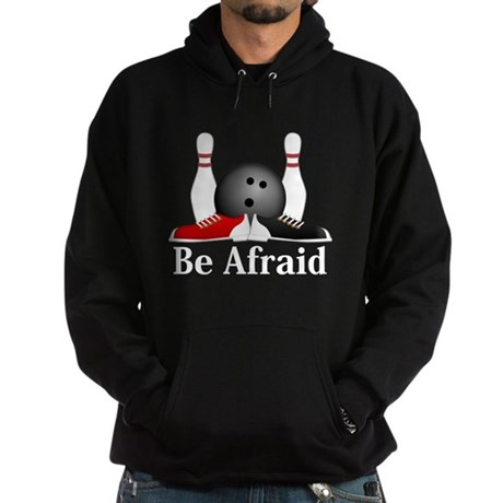 Be Afraid Logo 15 Hoodie (dark) Design Front Cente