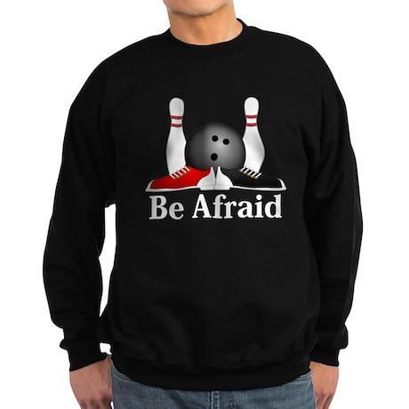Be Afraid Logo 15 Sweatshirt (dark) Design Front C