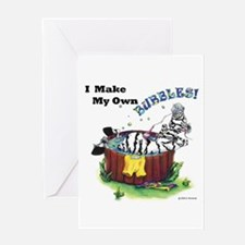 I make my own bubbles! Greeting Card