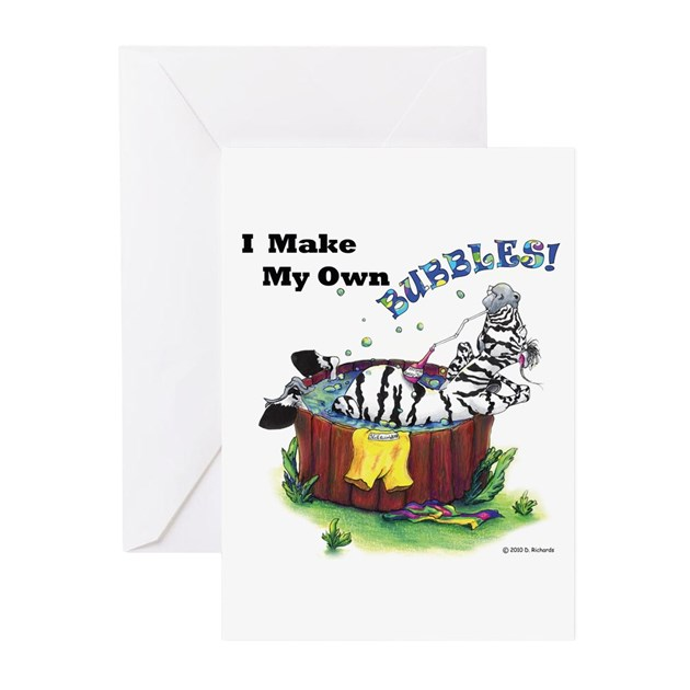 Strange I Make My Own Bubbles Greeting Cards Pk Of 10 By Doodlebum Funny Birthday Cards Online Ioscodamsfinfo