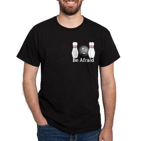 Be Afraid Logo 4 Dark T-Shirt Design Front Pocket