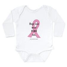 Boys can wear PINK too. Long Sleeve Infant Bodysui