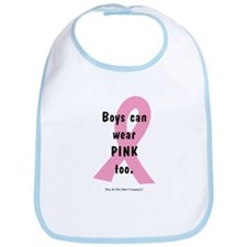 Boys can wear PINK too. Bib