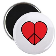 """Peace Sign Heart 2.25"""" Magnet (10 pack)"""