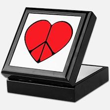 Peace Sign Heart Keepsake Box
