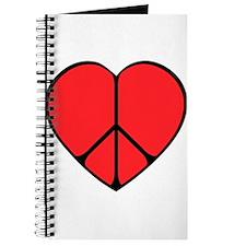 Peace Sign Heart Journal
