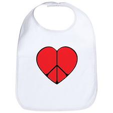 Peace Sign Heart Bib