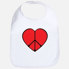 Peace Sign Heart Bib