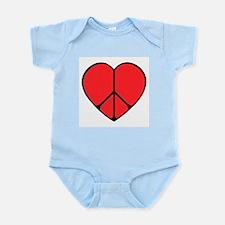 Peace Sign Heart Infant Bodysuit