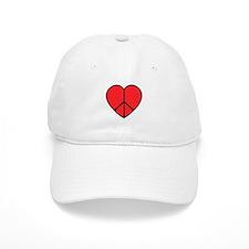 Peace Sign Heart Baseball Cap