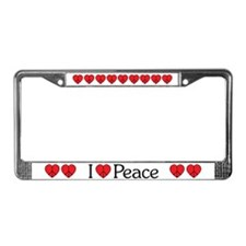 Peace Sign Heart License Plate Frame