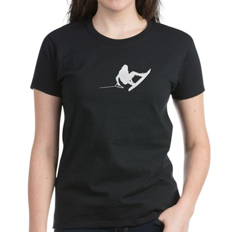 White Wakeboard 360 Women's Dark T-Shirt