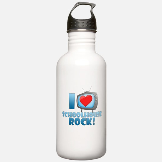 I Heart Schoolhouse Rock Sports Water Bottle