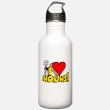 I Heart Nouns - Schoolhouse Rock! Sports Water Bottle