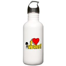 I Heart Verbs - Schoolhouse Rock! Water Bottle